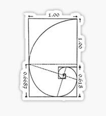 The Golden Spiral Sticker