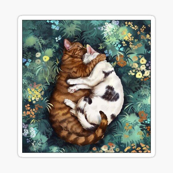Les chats amoureux Sticker