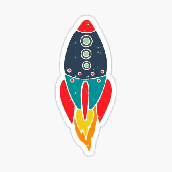 Space Rocket Sticker