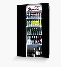 Soft Drinks Cabinet Greeting Card