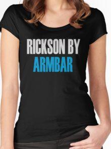 Rickson By Armbar (Brazilian Jiu Jitsu) Women's Fitted Scoop T-Shirt