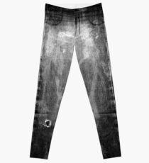 Legging pantalones vaqueros blanqueados