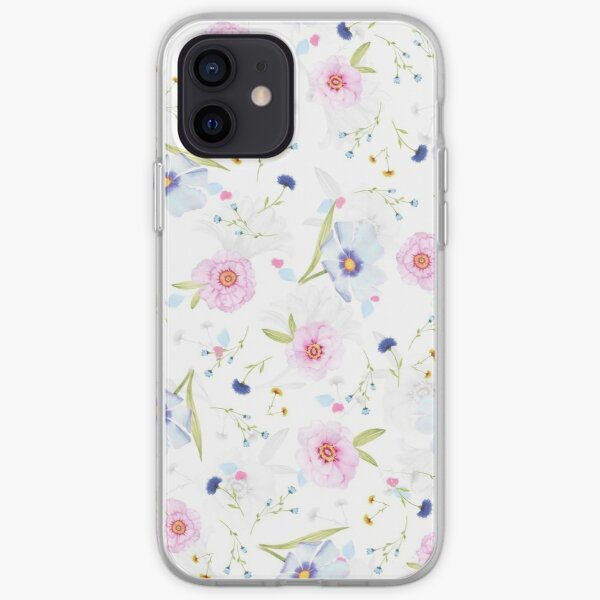 Floral pattern background iPhone Soft Case
