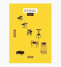 Stool Chart Photographic Print