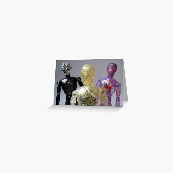 Android, Cyborg and Muton Greeting Card
