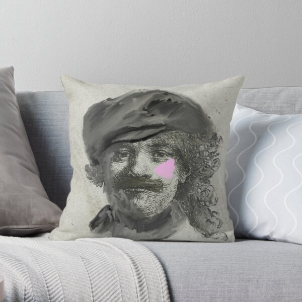 Rembrandt - Self portrait modern twist Throw Pillow