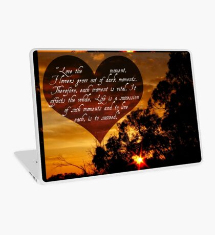 Love the moment Laptop Skin
