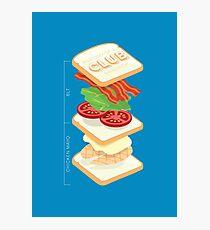 Anatomy of a Club Sandwich Photographic Print