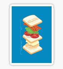 Anatomy of a Club Sandwich Sticker