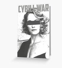 Cybill War Greeting Card