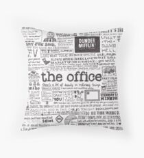 A Visual Representation of the Office Throw Pillow