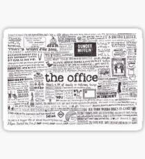 Eine visuelle Repräsentation des Büros Glänzender Sticker