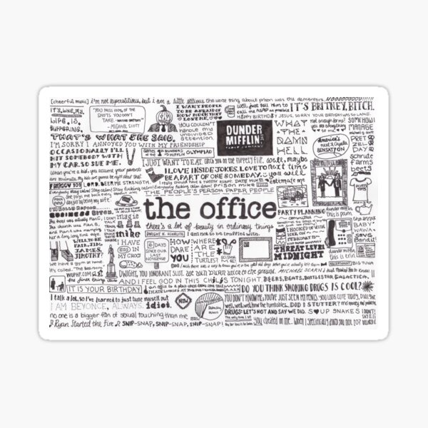A Visual Representation of the Office Sticker
