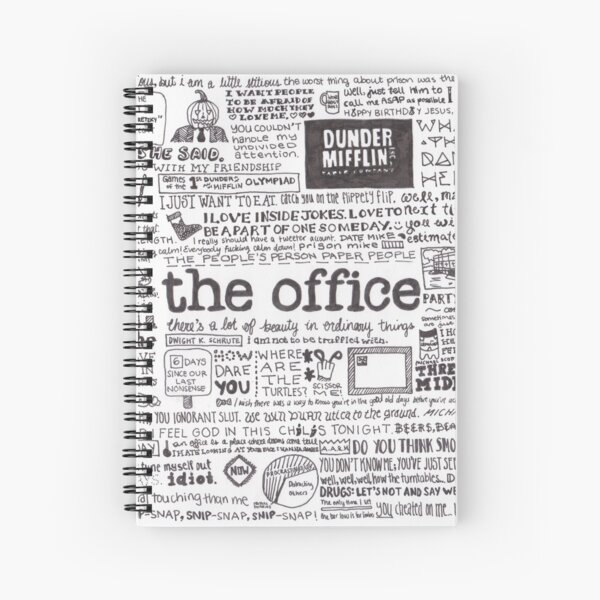 A Visual Representation of the Office Spiral Notebook