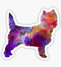 Cairn Terrier in watercolor Sticker
