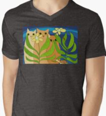 Three Cats, Two Flowers, One Snail and A Ladybug T-Shirt