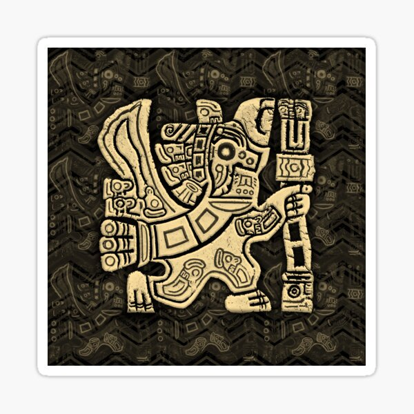 Aztec Eagle Warrior Sticker