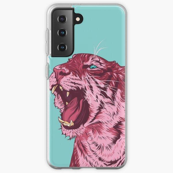Magenta tiger Samsung Galaxy Soft Case
