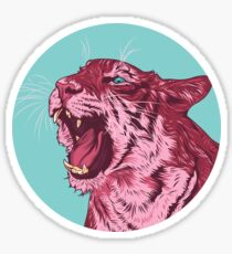 Magenta tiger Sticker