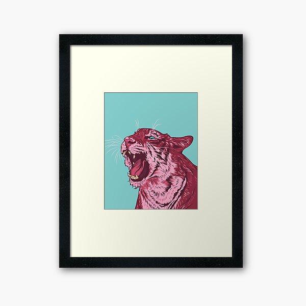 Magenta tiger Framed Art Print
