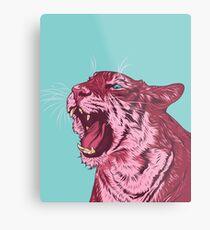 Magenta tiger Metal Print