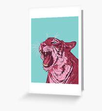 Magenta tiger Greeting Card