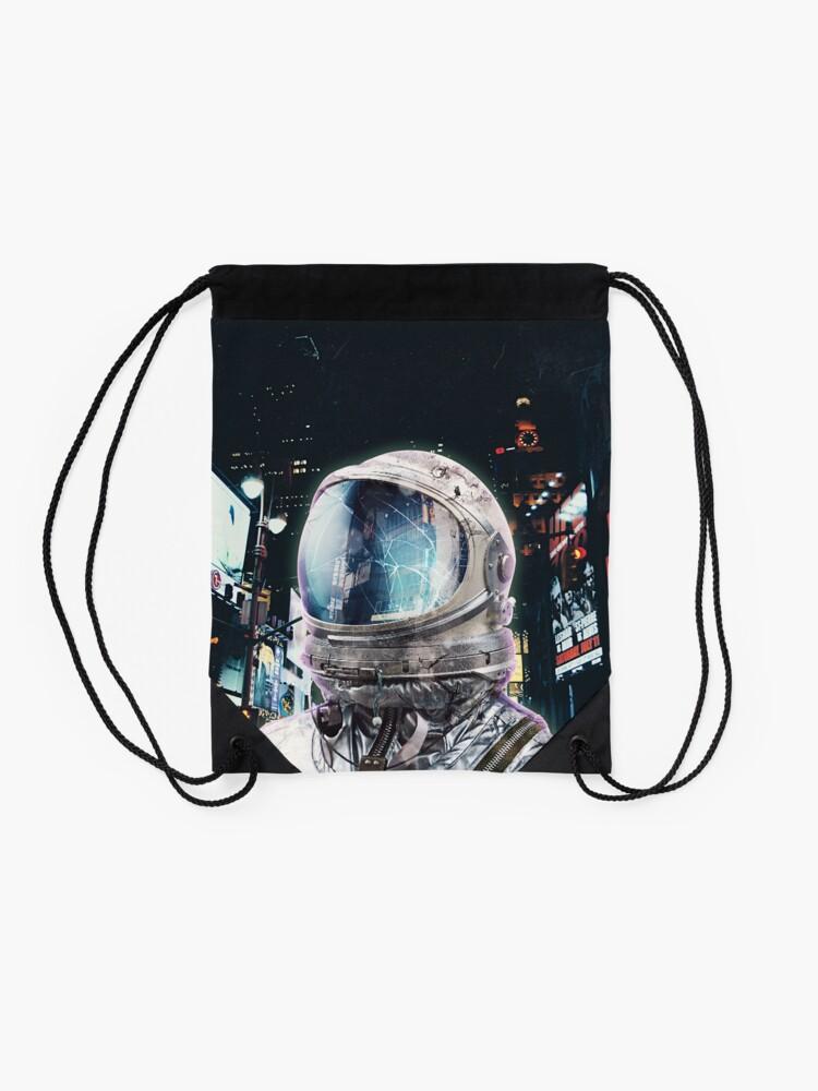 Alternate view of Night Life Drawstring Bag