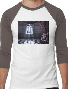Room with Gothic Window Men's Baseball ¾ T-Shirt