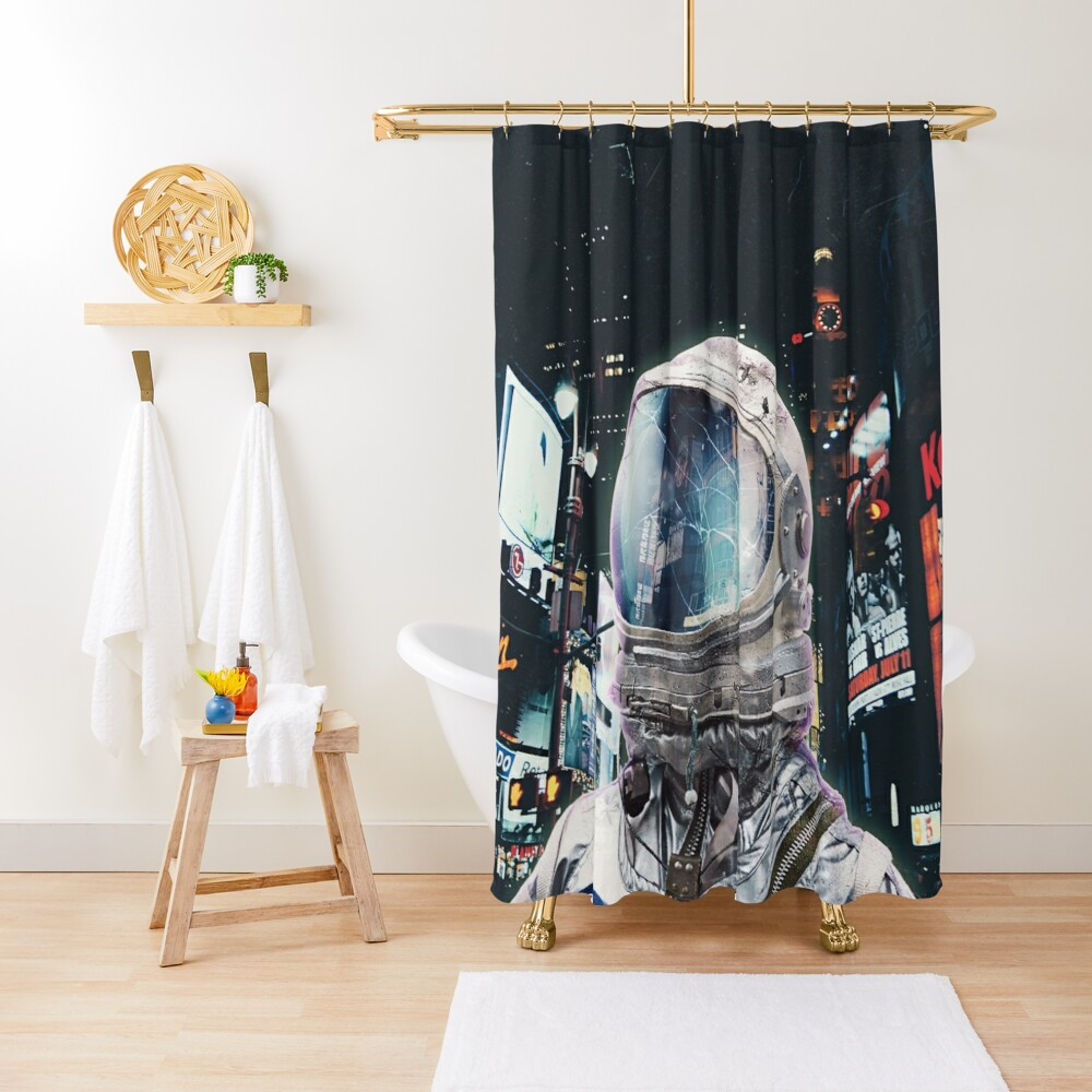 Nachtleben Duschvorhang