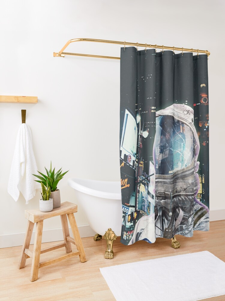 Alternate view of Night Life Shower Curtain