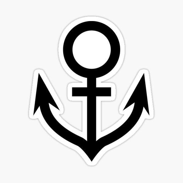 Jojo - Soft & Wet Anchor (Variant 2, White) Sticker