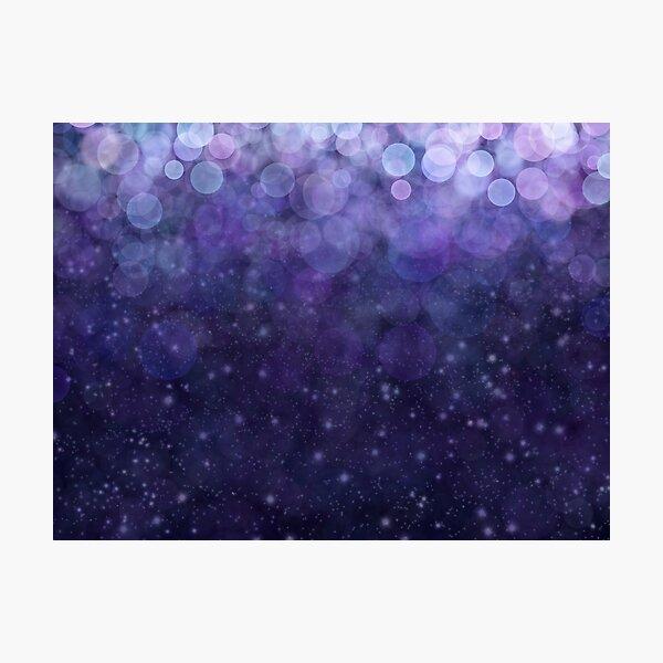 Blue Bokeh Glitter Art Print Photographic Print