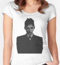 Penguin portait - Gotham Women's Fitted Scoop T-Shirt