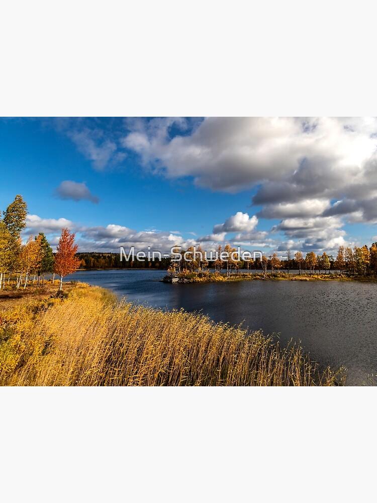 Eine herbstliche Landschaft bei Arjeplog von Mein-Schweden