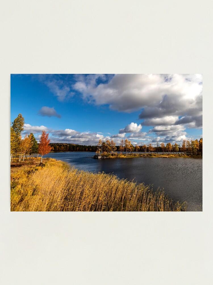 Alternative Ansicht von Eine herbstliche Landschaft bei Arjeplog Fotodruck