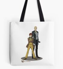 Stephen and Crane by Mila May Tote Bag