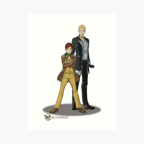 Stephen and Crane by Mila May Art Print