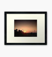 Sunset Intersection Framed Print