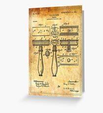 Franchise greeting cards redbubble patent image razor ancient canvas greeting card m4hsunfo