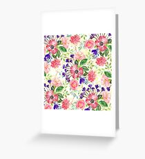Watercolor garden flowers Greeting Card