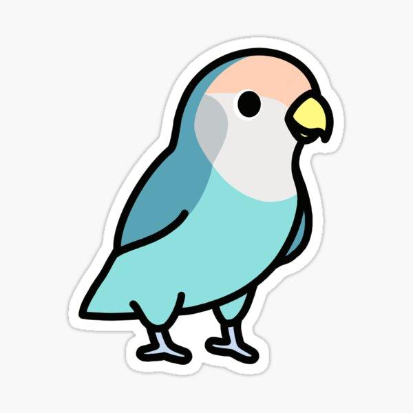 Blue Peach-Faced Lovebird Sticker