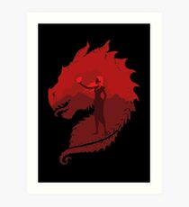 Mother of Dragons (Dark) Art Print