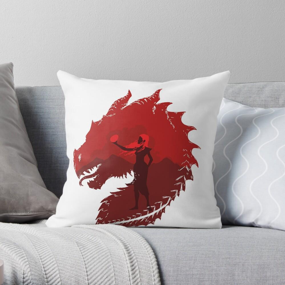 Mother of Dragons (Light) Throw Pillow
