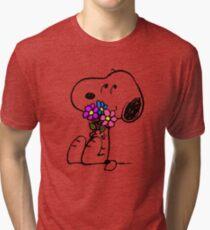 Snoopy Springtime Tri-blend T-Shirt