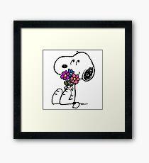 Snoopy Springtime Framed Print