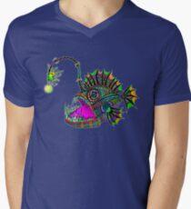 Electric Angler Fish Men's V-Neck T-Shirt