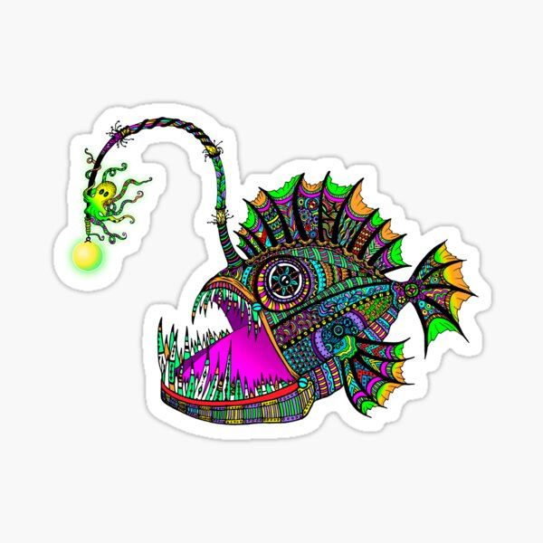 Electric Angler Fish Sticker