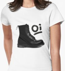 Give em the boot! Womens Fitted T-Shirt