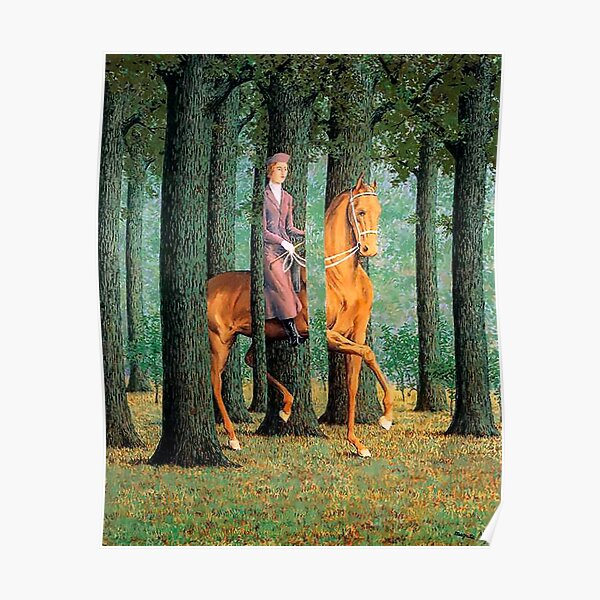 The Blank Signature by Rene Magritte  Poster
