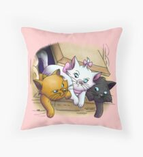 Baby Kitties Throw Pillow